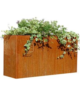 Cortenstalen Plantenbak 118x30x85 cm