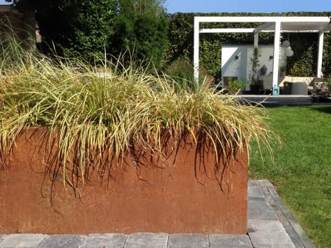 Cortenstaal Plantenbak 118x30x85 cm