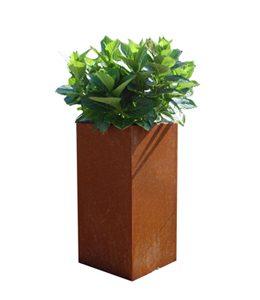 A + Concepts RVS   Cortenstaal Plantenbak 30x30x85