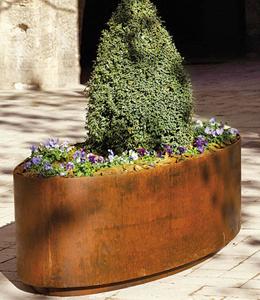 Elliptische plantenbakken