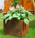 Cortenstalen Plantenbak 73x73x63 cm