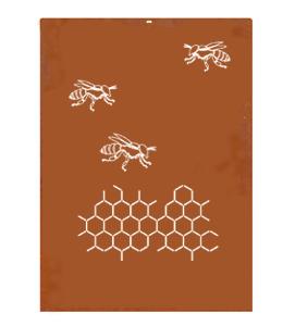 Corten Schutting 'Bijen'