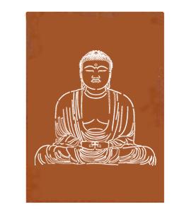 Corten Schutting 'Buddha'