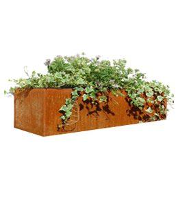 Cortenstalen Plantenbak 88x30x75 cm