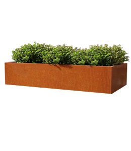 Cortenstalen Plantenbak 198x40x40 cm