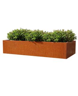 Cortenstalen Plantenbak 196x40x40 cm