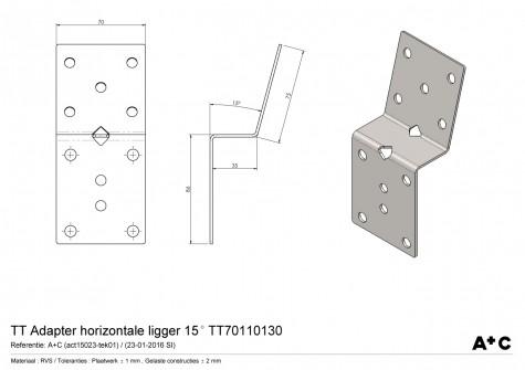 TT Adapter horizontaal 15º
