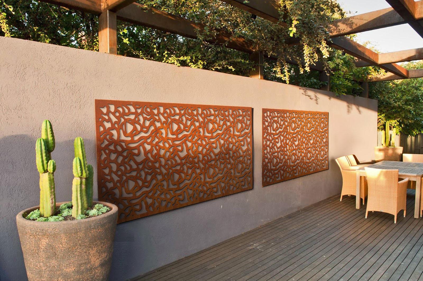 Cortenstaal schutting deel 39 deco 39 van a concepts for Decoratie schutting