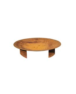 Cortenstalen Vuurschaal (Ø60cm+pootjes)