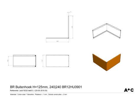 H12,5 | Buitenhoek borderrand - cortenstalen producten