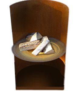 Cortenstalen Vuurschaal (Ø100cm+hoog windscherm)