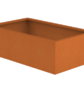 Borderbak / Plantenbak in cortenstaal - 123 x 73 x 38 cm