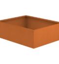 Borderbak / Plantenbak in cortenstaal - 123 x 98 x 38 cm