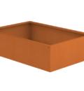 Borderbak / Plantenbak in cortenstaal - 145 x 98 x 38 cm