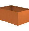 Borderbak / Plantenbak in cortenstaal - 145 x 98 x 60 cm