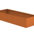 Borderbak / Plantenbak in cortenstaal - 195 x 73 x 38 cm