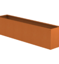 Borderbak in cortenstaal - 245 x 48,5 x 60 cm