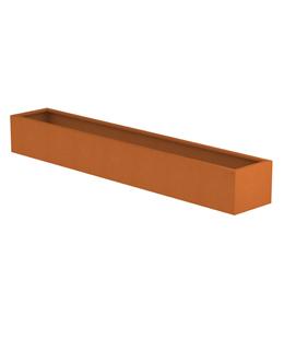 Borderbak in cortenstaal - 295 x 48,5 x 38 cm
