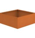 Borderbak / Plantenbak in cortenstaal - 98 x 98 x 38 cm